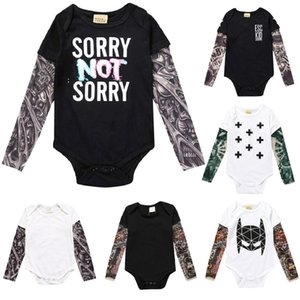 Wholesale baby tattoo sleeve shirts for sale - Group buy Tattoo Sleeve Newborn Clothes Baby Boy Bodysuit Unisex Toddler Jumpsuit Cotton Premature Clothing Girls Shirt Costumes Y