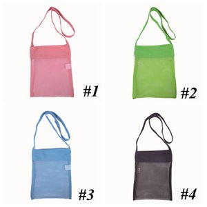 Wholesale bag kids tote children resale online - Mesh Bag Tote Beach Storage Shell NetBag Girls Handbags Color Children Kids Sand Object Collect Toys StorageBags GGA4735