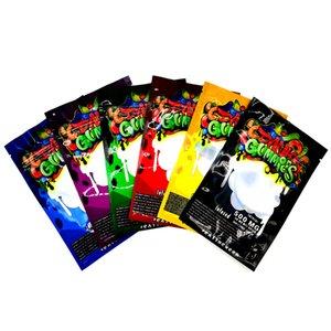 Dank Gummies mylar Bag 500mg Edibles Retail packaging 6 styles Smell Proof Zipper Bags