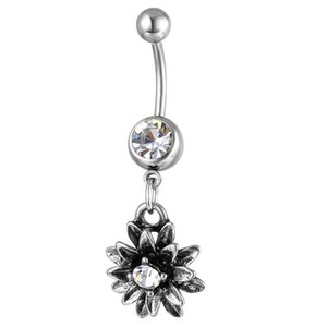 D0697-1( 2 colors ) Clear Navel Belly Button Ring piercing body jewlery 1.6*11*5 8 belly ring Body Jewelry