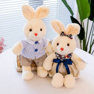 Wholesale cute couple toys for sale - Group buy Dolls Cute Couple Inch Rabbit Plush Toy Cartoon Doll Pillow Gift