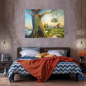 Wholesale tree life canvas print for sale - Group buy Tree Of Life Oil Painting On Canvas Home Decor Handpainted HD Print Wall Art Picture Customization is acceptable
