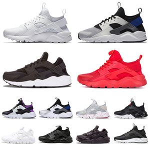 Wholesale huaraches original women for sale - Group buy Original Mens Womens Huarache Running Shoes Huaraches Hurache ALL Black White Red Navy Blue Sports Sneakers Men Women Trainers Size
