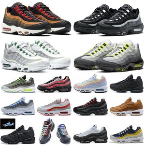 ingrosso amarena-air max s airmax95 Shoes Scarpe da corsa uomo Donna Throwback Future Greedy Triple Bianco Giallo Pull Tab Nero Red Bred Designer Sport Sneakers