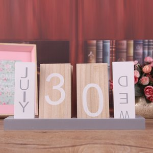 Wholesale paper logs resale online - Wooden Creative Log Desktop Decoration Calendar Living Room Bedroom Home Furnishings