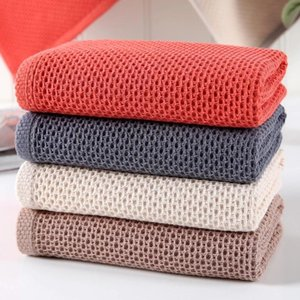 Wholesale yoga for face for sale - Group buy 100 Cotton Hand Towels For Adults Plaid Towel Face Care Magic Bathroom Sport Waffle x72cm Yoga Blankets