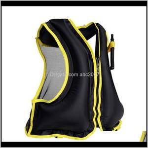 Wholesale inflatable jacket resale online - Water Sports Outdoors Drop Delivery Swim Life Vest Snorkel Jackets Snorkeling Floating Device Outdoor Diving Surfing Inflatable Swimming