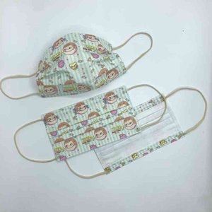 Wholesale mask face baby resale online - Big Yingken Head Cartoon Baby Meltblown Cloth Face Mask