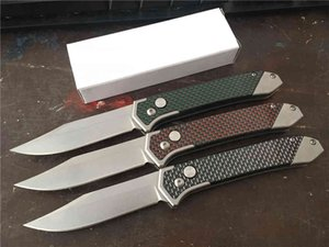 Wholesale sog camp knife resale online - Super Cold Steel Blade Automatic Folding Carbon Fiber Handle Camping EDC pocket Instead Of Sog FIELDER G707 knife Knives S4UC