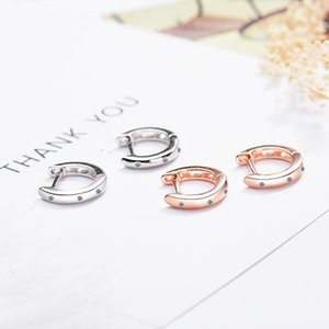 Wholesale mens earrings hoops resale online - Solid Real Sterling Silver Mini Slim Loop Huggies Circle Small Hoop Earrings For Women Mens Children Girls Kids Jewelry Aros Huggie