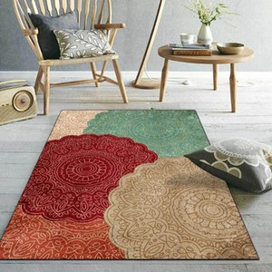 Wholesale floral sofas resale online - Retro American Style Area Rugs Mandala Geometric Floral Printed Living Room Sofa Table Floor Mat Bedroom Kitchen Door Carpet Carpets