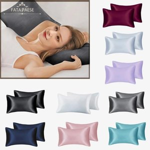 Wholesale silk pillowcases for sale - Group buy Stock Colors Silk Pillowcase Home Hotel Travel Comfortable Pillow Covers High Quality Fast Delivery