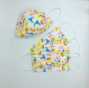 Wholesale mask face baby for sale - Group buy Luxury Layer Filtration Efficiency Adult Children Baby Printing Yellow Cartoon Disposable Face Masks Dustproof Prevention Influenza Face Mouth Mask