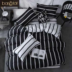 Wholesale white striped bedding for sale - Group buy 38Black And White Colo Striped Bed Cover Sets Single Twin Double Queen King Quilt Sheet Pillowcase Bedding Kit