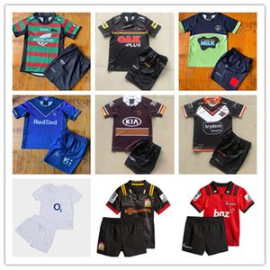 ingrosso pullover da rugby dei ragazzi-Kids Rugby Kit Jerseys Wests Tigri Maori Storm Brisbane Broncos Penrith Panthers Canberra Raider Rabbitohs Bambini Maglie per bambini Gioventù