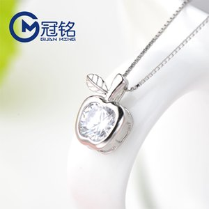 Wholesale sterling apple necklace for sale - Group buy Necklace Silver S925 Guanming Sterling Jewelry Small Apple Pendant for Girlfriend