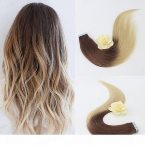 Wholesale taping hair extensions resale online - Professional Sales Teams Human Hair Weave Hair Tape Extensions Inch Blonde Hair Extensions Toupee For Women