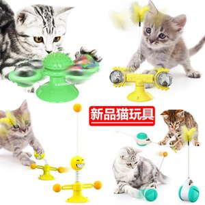 Wholesale plastic man toys resale online - Cat Supplies Toys supplies spring man turn turntable tease stick vent balance car PetPEV4