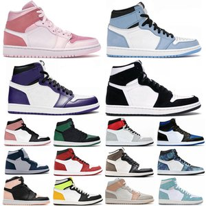 1 University Blue Hyper Royal Twist Chicago Basketball Shoes Men 1s Mid Milan Digital Pink Sail Patent Bred Toe women Court Purple Sneakers