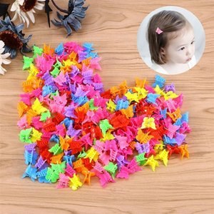 Wholesale korean red hair color resale online - Korean Net Red Color Mini Butterfly Hairpin Children s Knot Love Cartoon Small Claw Clip Baby Headdress Female Hair Accessories