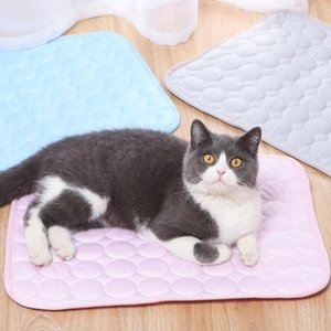 Wholesale cooling blanket resale online - Pet Mat Cooling Summer Pad For Dogs Cats Breathable Sofa Car Blanket Dog Bed Washable Small Medium Large Pets Kennels Pens