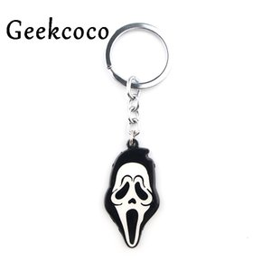 Wholesale moon mask resale online - Ghost Mask Punk Horror Key Gesp Mode Famous Handmade Car Keychain Man Woman Zak Charm Hanger Accessories J0423