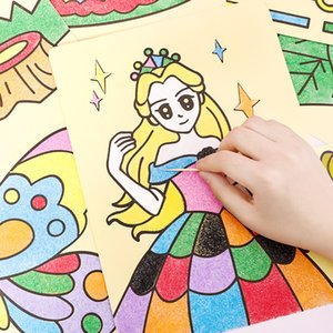 Wholesale sand papers for sale - Group buy Creative DIY Sand Painting Kids Montessori Toys Children Crafts Doodle Colour Art Pictures Drawing Paper Educational Toy