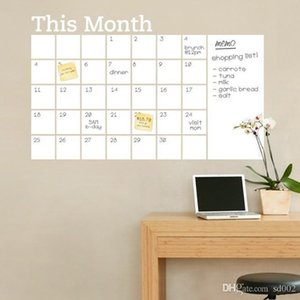 Wholesale calendars pvc resale online - This Month PVC Pasters Self Adhesive White Calendar Peel Design Wall Stickers Odourless Strong Viscosity Novelty Decal Practical dz ZZ CQX3