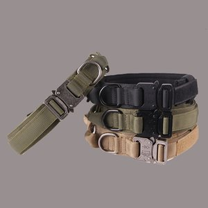 Wholesale best china knives for sale - Group buy Cat Collars Leadsour best selling tactical nylon thickened large and medium sized dog traction pet Collar
