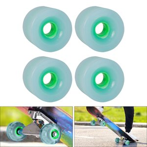 Wholesale wheels resale online - 4pcs Pack mm Longboard PU Wheel Replacement Skateboard A Hardness Wheels Cruising Wheel