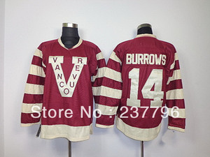 Wholesale best classic hockey jerseys resale online - 2014 Vancouver Canucks Heritage Classic Jersey Winter th Anniversary Alex Burrows Red Ice Hockey Jerseys Best Quality