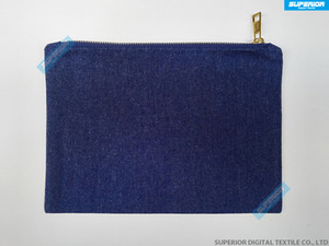 Wholesale denim makeup bag resale online - 7x10 Inch Denim Indigo Blue Twill With Makeup Bag Metallic Gold Match Zip Cotton Cosmetic oz Lining Blank Pure B Kbxrc