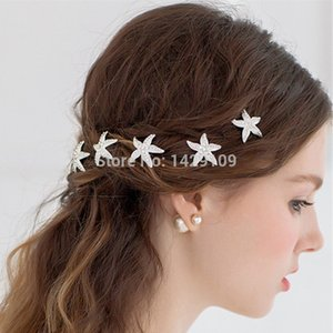 Wholesale 10PCS Bridal Dish Hair U type Hairpins Starfish Type Bobby Pins With Rhinestones For Summer Beach Weddings