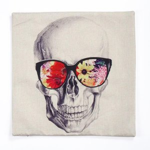 Wholesale Halloween Skulls pillow covers styles colorful scary Halloween cushions home decoration couch Car office pillow cases