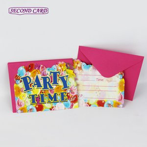 Wholesale New Lovely Colorful Balloons Invitation Card For Kids Birthday Party Supplies Party Decoration Party Favors