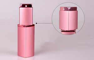 100pcs TOP quality Luxury Square Empty Perfume Bottle 20ML Aluminium Refillable Bottle Portable Metal Spray Atomizer