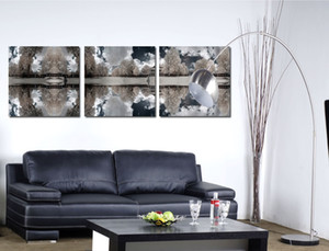 Free shipping 3 Pieces no frame on Canvas Prints Black and white oil painting Poplar tree forest Abstract tree dog British Bulldog Shih Tzu