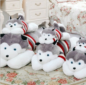 Husky Stuffed Animals Plush Toys Boys Girls Birthday Party Gifts Cute Dogs Striped Sweater Toy Huskie Plus Stuff Toy 40 50 70 100cm D4283