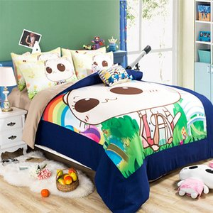 Wholesale CAH027- Multi-Choice Christmas Cartoon Comforter Set for Kids Studennt 3D Print Duvet Bedding Cover Pillow Cases Quilt Cover Bed Bedding Set