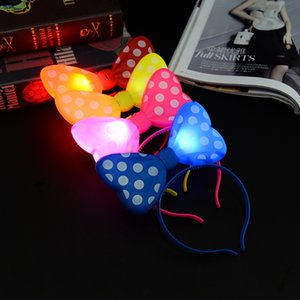 Wholesale LED TOYS The Newest Christmas LED Butterfly Knot Hair Headbands Party Mix Order IC921