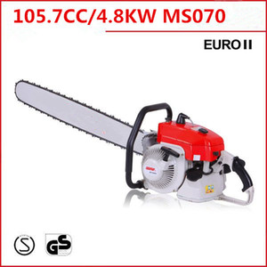 """42"""" longer bar orange and gray color ms070 chain saw 4.8 kw 105cc petrol chain saw for discount pric"""