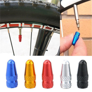 Wholesale 500PCS aluminum material bicycle Presta Wheel Rim Tyre Stem Air Valve Caps Dust Cover