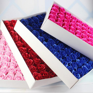 Rose Soaps Flower Packed Wedding Supplies Gifts Event Party Goods Favor Toilet soap Scented fake rose soap bathroom accessories SR002