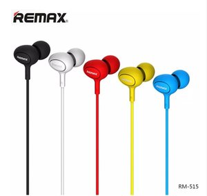 Wholesale Remax RM RM In Ear Music Earphone High Performance Stereo Headset mm Aux With Mic Button Control for iPhone Samsung