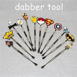 Wholesale Newest Poke Packet Mon Cartoon Metal Dabber Glass Bongs tool for Oil Wax Glass Water Pipe Dab Oil Rigs
