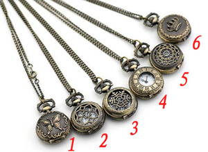 lot of 20pcs mix style Antique Pocket watch with chain , Necklace Classic Pocket Watches