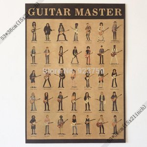 Wholesale Guitar Master Frank Zappa,george Harrison,slash,jimi Hendrix Vintage Home Wall Decoration Poster 21x15 Inch(53*38cm)paper Poster