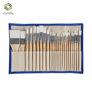 Wholesale Conda Chip Paint Brushes Set Professional Synthetic Short Handle W Brush Case Art Supplies Watercolor Oil Paint Brush