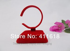 Wholesale Retail Jewelry Display Bangle Watch Anklet Bracelet Chain Holder Stand Red velvet Collar for Fashion Gold Jewelry