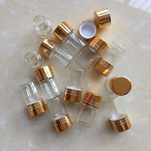 200 X 2ml High Quality Clear Glass Bottles with Gold Crew Cap for Essential Oil & Pipe Tobacco ascStorage Gift Bottle